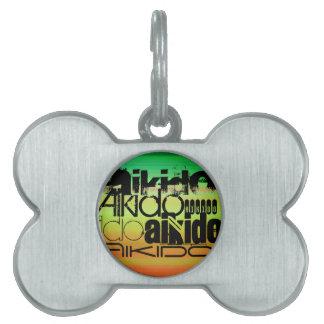 Aikido; Vibrant Green, Orange, & Yellow Pet ID Tags