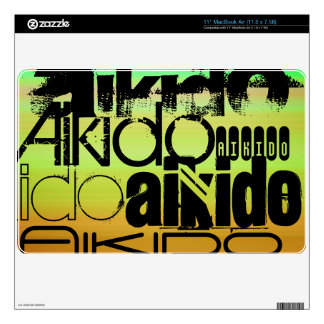 Aikido; Vibrant Green, Orange, & Yellow Decal For The MacBook
