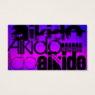 Aikido; Vibrant Violet Blue and Magenta Business Card
