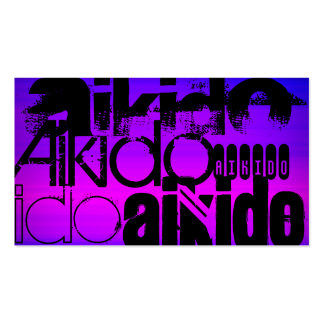 Aikido; Vibrant Violet Blue and Magenta Double-Sided Standard Business Cards (Pack Of 100)