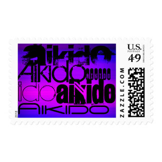 Aikido; Vibrant Violet Blue and Magenta Postage