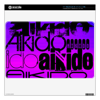 Aikido; Vibrant Violet Blue and Magenta Decal For MacBook