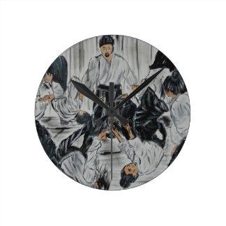 "aikijutsu""Aikijutsu"" Artwork by Carter L. Shepard Round Clock"