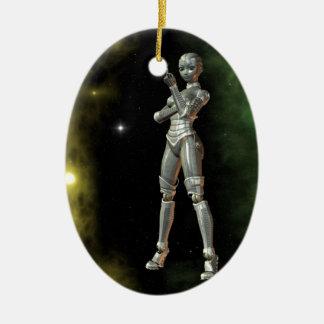 aikobot & stars ceramic ornament