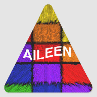 AILEEN ( female names ) Triangle Sticker