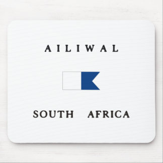 Ailiwal South Africa Alpha Dive Flag Mouse Pad