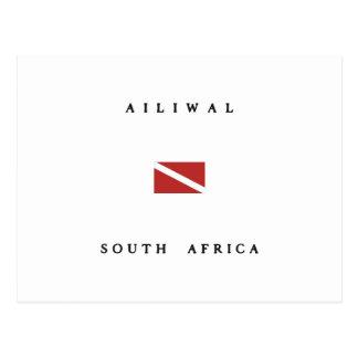 Ailiwal South Africa Scuba Dive Flag Postcard