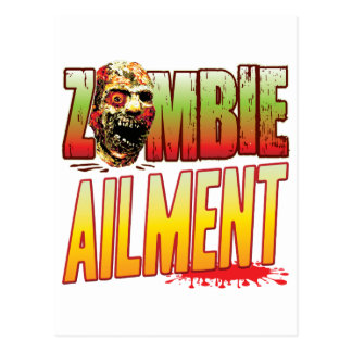 Ailment Zombie Head Postcard