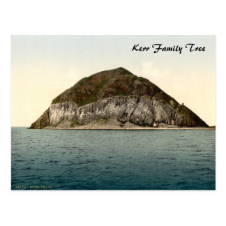 Ailsa Craig, Firth of Clyde, Scotland Postcard
