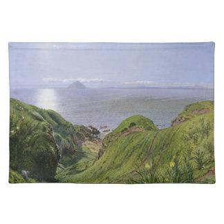 Ailsa Craig y la isla de Arran, Escocia Manteles