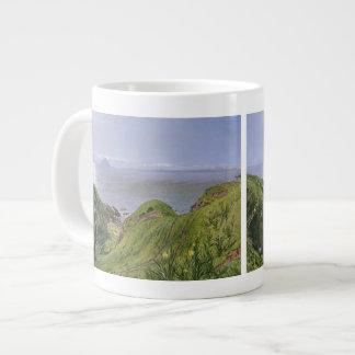 Ailsa Craig y la isla de Arran, Escocia Taza Grande