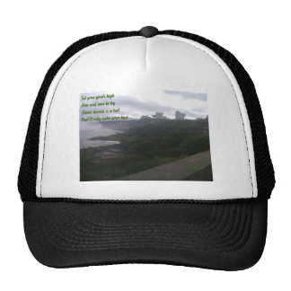 Aim and vow to try trucker hat