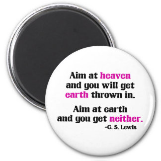 Aim At Heaven 2 Inch Round Magnet