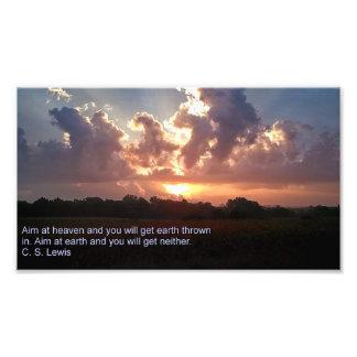 Aim at Heaven Photo Print