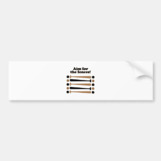 Aim for Fences Car Bumper Sticker