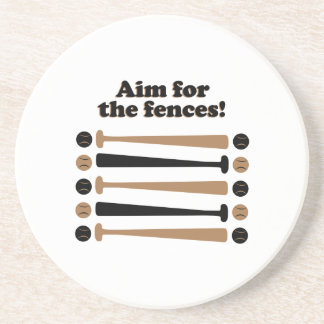 Aim for Fences Beverage Coasters