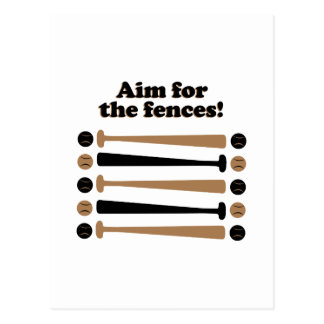 Aim for Fences Postcard