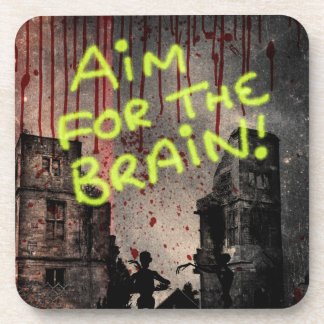 Aim For The Brain Coaster