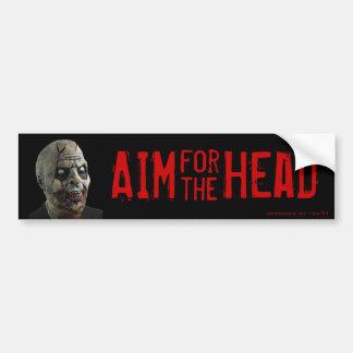 Aim for the Head! Car Bumper Sticker