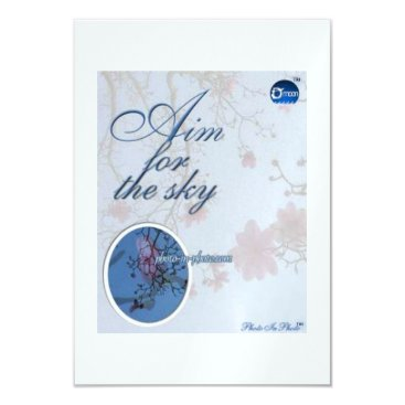 """Professional Business """"Aim for the Sky"""" Invitation Card"""