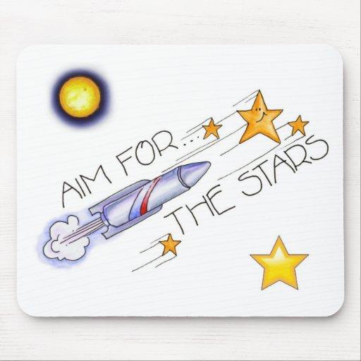 Aim For The Stars! - Mousepad