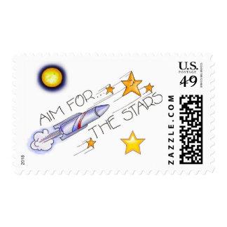 Aim For The Stars! - U.S. Postage Stamp
