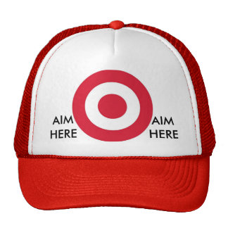 Aim here cap trucker hat