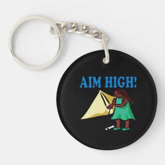 Aim High Double-Sided Round Acrylic Keychain