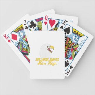 Aim High Eagles Bicycle Playing Cards