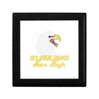 Aim High Eagles Jewelry Box