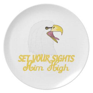 Aim High Eagles Plate