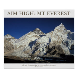 Aim High: Mt Everest Print