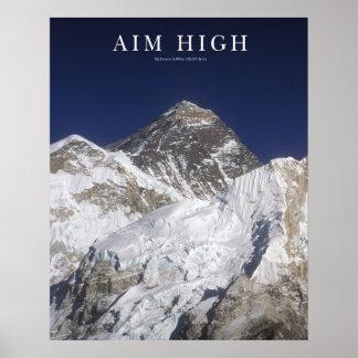 Aim High - Mt Everest Poster