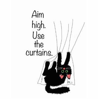 Aim High. Use the Curtains. Statuette