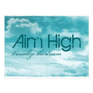 Aim High. Visualize The Dream. Postcard