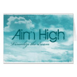 Aim High. Visualize The Dream. Stationery Note Card