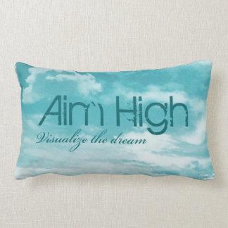 Aim High. Visualize The Dream. Throw Pillow