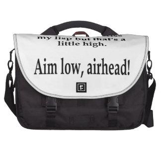 Aim Low, Airheads! Laptop Computer Bag