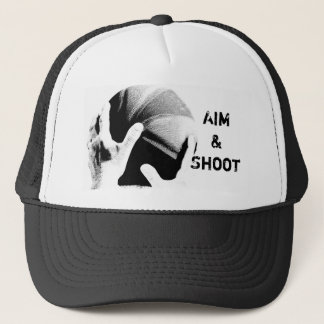 Aim & Shoot Motivational Basketball Trucker Hat