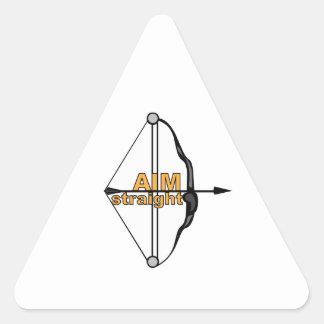 Aim Straight Triangle Sticker