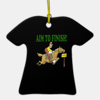 Aim To Finish Double-Sided T-Shirt Ceramic Christmas Ornament