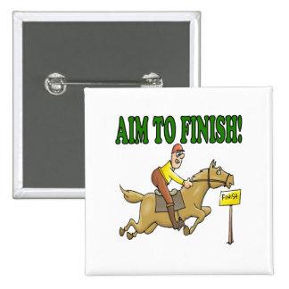 Aim To Finish Pinback Button