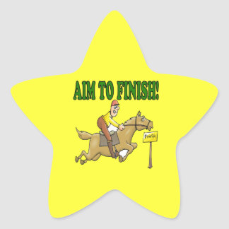 Aim To Finish Star Sticker