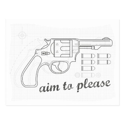 Aim To Please Postcard