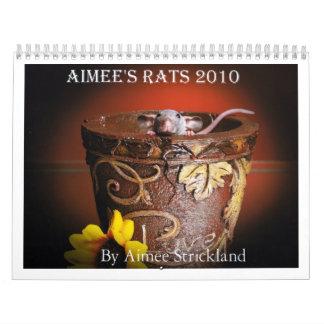 Aimee's rats 2010 calendar