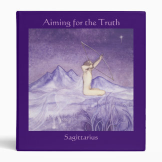 Aiming for the Truth - Sagittarius 3 Ring Binder