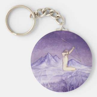 Aiming for the Truth - Sagittarius Basic Round Button Keychain