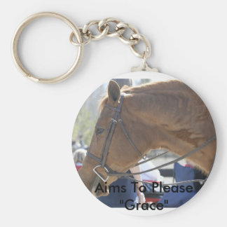 """Aims to Please """"Grace"""" Basic Round Button Keychain"""