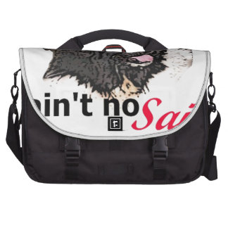 Ain t No Saint I m a Landseer Newfoundland Laptop Bag