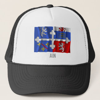 Ain waving flag with name trucker hat